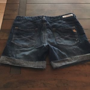 Express blue jean shorts